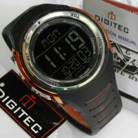 Jam Tangan Digitec DG-2100T Hitam List Orange Digitec 2100 DG-2100