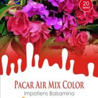 1 Pack Biiji Tanaman PACAR AIR Mix Color Mini Pouch Maica Leaf