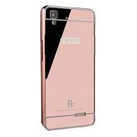 Bumper Mirror Sliding Case Oppo F1 - Rose Gold