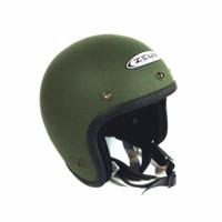 ZEUS 385 MATT GREEN DOFF HIJAU DOFF DOP helm retro classic import