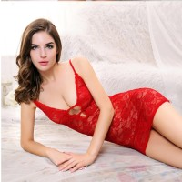 Sexy Lingerie Flower Red, Baby Doll, Baju Tidur