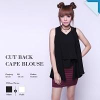 CRG162197- Cut Back Cape or Blouse Cape Blouse Batwing Loose Top