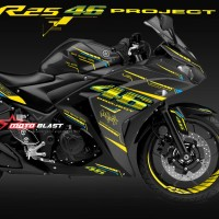 Decal Stiker Yamaha R25 Black - AGV VR46 Project
