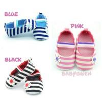 sepatu bayi perempuan prewalker strip
