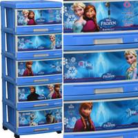 harga Lemari Plastik Laci Serbaguna Napolly 5 Susun Frozen Biru Cantik Tokopedia.com