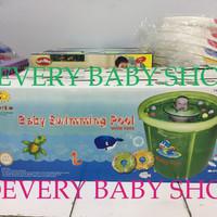 harga Kolam Bayi / Spa Baby Flow Hijau + Toys - Swimming Pool Jumbo 90 x 90 Tokopedia.com