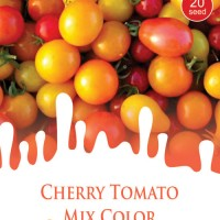 1 Pack Biji Tanaman TOMAT CHERRY Mix Color Mini Pouch Maica Leaf