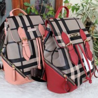 SUPER2307 RANSEL BURBERRY BACKPACK FASHION TAS KULIAH TAS IMPORT SERUT