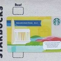 """Washington DC"" Starbucks Card"