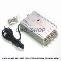 CATV Signal Amplifier ( Booster ) 4 Channel 40dB Rayden
