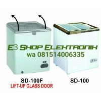 GEA Sliding Flat Glass Freezer SD-100F Kulkas Kaca Pembeku Ice Cream
