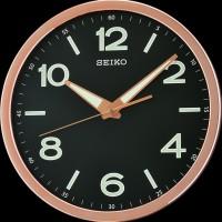Seiko Wall Clock QXA679P Black Lumibrite | Jam Dinding Seiko QXA679