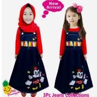 Grosir Baju Muslim Anak Perempuan, Gamis Minnie Mouse - Bm597