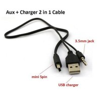 Kabel charger speaker portable + AUX( USB to mini USB + jack 3,5mm )
