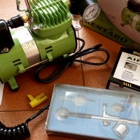 Paket Murah Mini Kompresor Air Brush Gun Lengkap Tinggal Pakai