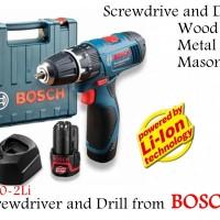 Mesin Bor Tembok Kayu Besi Impact Drill Cordless Bosch Gsb 1080-2Li