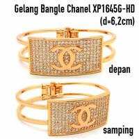 XP1645G-HD Gelang Bangle Channel Perhiasan Lapis Emas Gold
