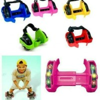 Jual sepatu roda flashing roller light mainan anak dewasa lampu Nyala Skate Murah
