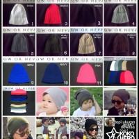 harga topi kupluk Anak Bayi dan Dewasa polos rajut Beanie baby hat kid cap Tokopedia.com