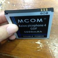 Baterai Battery Axioo Picophone 4 Gdf 5000mah Double Power Mcom