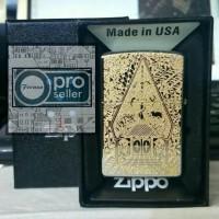 Korek Zippo Super Grade Ori Custom Grafir Batik Wayang!