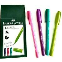 Jual Pulpen Ballpoint Faber Castell Tripen 0,7 Hitam (Pack 12 Pcs) Murah