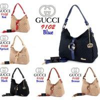 Gucci Hobo Canvas 9102 Semprem Bag Fashion Wanita Tas Import Cewek