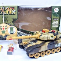 rc tank leopard charger ( mainan anak remote controle, remot control )