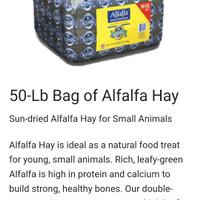 Alfalfa hay merk alfalfa king repack 1kg