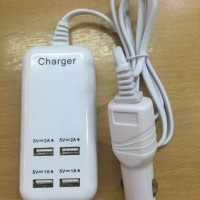 harga Car Charger Carger HP Handphone Laptop Mobil 4 Port USB Usb usb Tokopedia.com