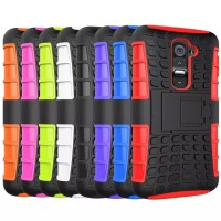 LG G2 rugged armor case cover armor with stand (HARD+SOFT)