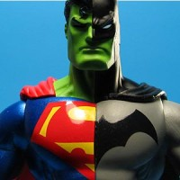 Mainan Action Figure Batman Superman Composite