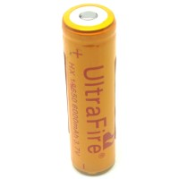 Baterai UltraFire Rechargeable BRC 18650 / 6000mAh 3.7V / Golden