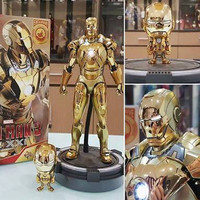 Hot Toys Cosbaby Iron Man Midas Gold Chrome mark XXI 21 HT Cosb284 ori
