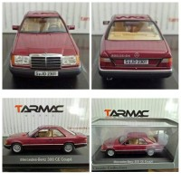 DEALER BOX MERCEDES BENZ 300CE COUPE RED SKALA 1:43