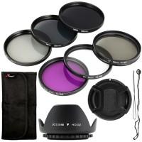 58mm Filter UV CPL FLD ND2 4 8 For Canon 700D 650D 600D 450D 400D 350D