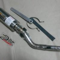 harga KNALPOT CLD MIO ROAD RACE 130CC BULAT Tokopedia.com