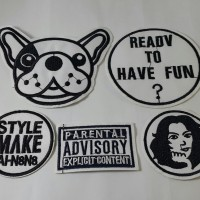 Parental Advisory set of 5 / Stiker Baju Topi / Iron Patch Baju