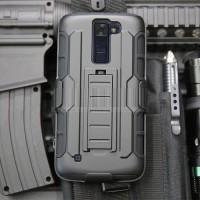 Armor Shield Bumper Holster Belt Hard Soft Case Cover Casing LG K7