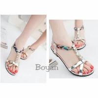 Sepatu Sandal Wanita Silver Strap Rainbow Modis Suplier Sepatu Mur