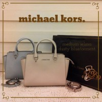 Authentic MICHAEL KORS Selma Saffiano Leather Medium Satchel