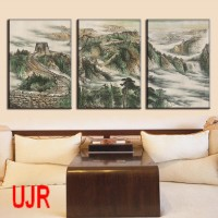 Lukisan Dinding Material Canvas Home Dekor Gambar Tembok Besar China