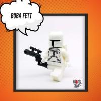 Boba Fett (white) minifigure - Lego bootleg