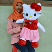 Jual Boneka Hello Kitty Rok Merah Pink 75 cm SNI Murah