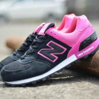 BN0105 Gray Pink New Balance 574 Women