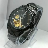 Rolex Skeleton Carerra Rantai Black High Quality