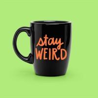 Mug Coffee Decal Sticker Stay Weird 2PCS/SET - Rina Shop