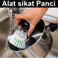 Jual Alat sikat panci inovatif dispenser sabun cair brush soap dapur piring Murah