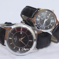 Jam Tangan Patex Philippe Couple Black Silver Leather Berkualitas