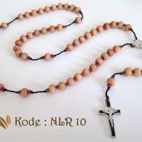 Jual Kalung Rosario Kayu Cendana / Sandalwood Rosary 8MM Murah